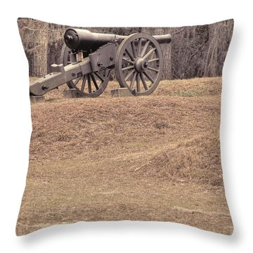 Ft. Mcallister Cannon 2 View 2 Throw Pillow