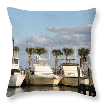 Ft. Pierce Marina Throw Pillow