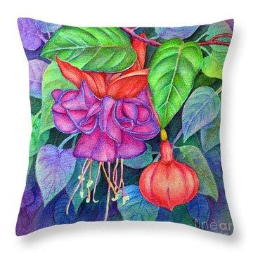 Fuchsia Throw Pillow by Dion Dior