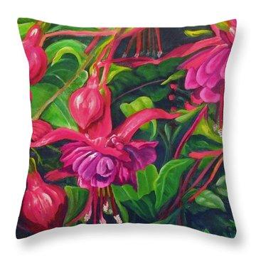 Fuchsia Fantastic Throw Pillow