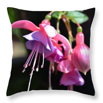 Fuchsia Flower Throw Pillow by Scott Lyons