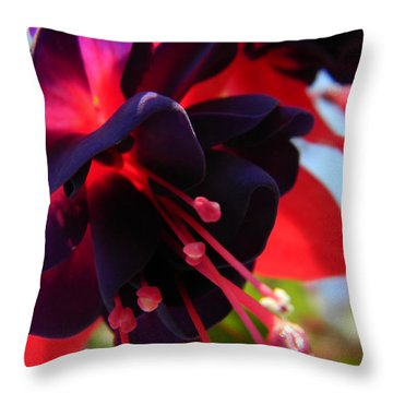 Fuchsia In Full Bloom Throw Pillow