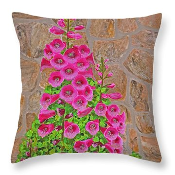 Fuchsia Profusion Throw Pillow