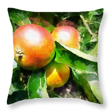Fugly Manor Apples Throw Pillow