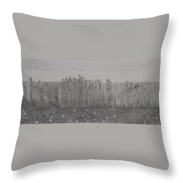 Throw Pillow featuring the painting Fugue by A  Robert Malcom