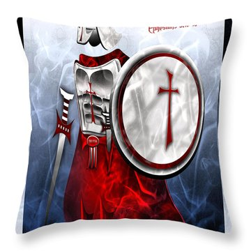 Full Armor Of God Throw Pillow