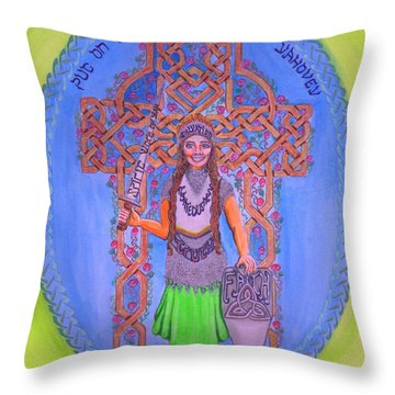 Full Armor Of Yhwh Woman Throw Pillow