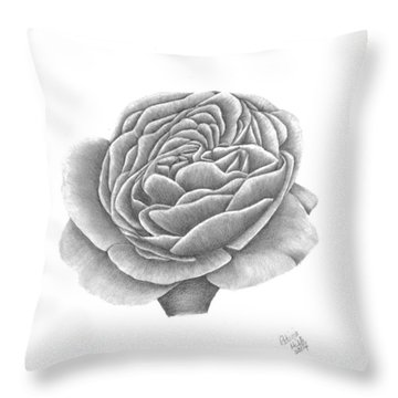 Throw Pillow featuring the drawing Full Bloom by Patricia Hiltz