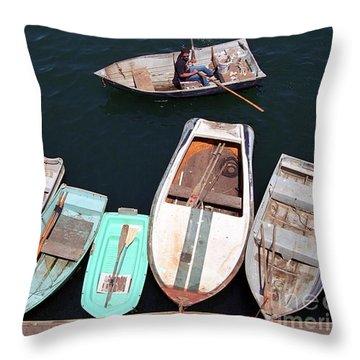 Full Dock Throw Pillow