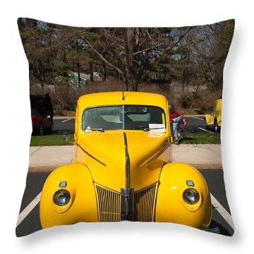 Full Frontal Yellow Throw Pillow