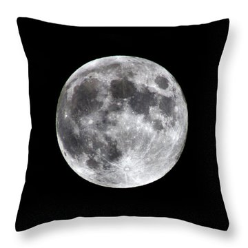 Throw Pillow featuring the photograph Full Moon by Aaron Berg