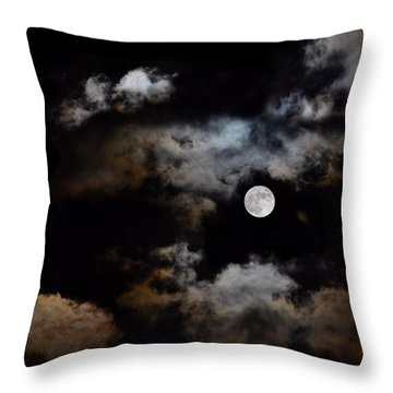 Full Moon After The Storm Throw Pillow