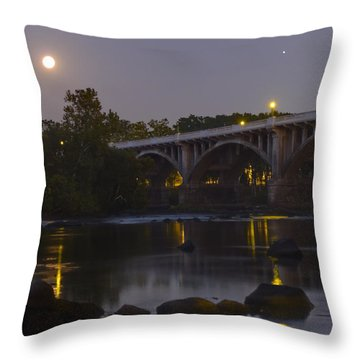 Full Moon And Jupiter-1 Throw Pillow