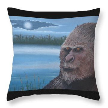 Full Moon At Boggy Creek Throw Pillow