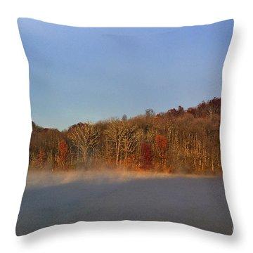 Full Moon Big Ditch Lake Throw Pillow by Thomas R Fletcher
