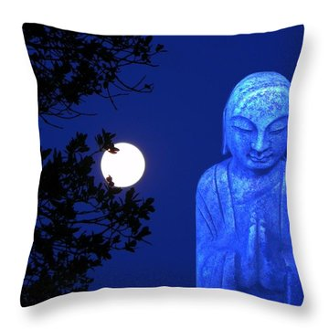 Full Moon Buddha Throw Pillow