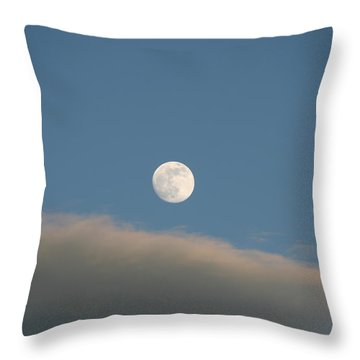 Throw Pillow featuring the photograph Full Moon by David S Reynolds