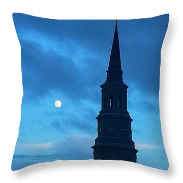 Full Moon In The Holy City Throw Pillow