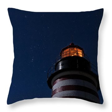 Full Moon On Quoddy Throw Pillow by Marty Saccone