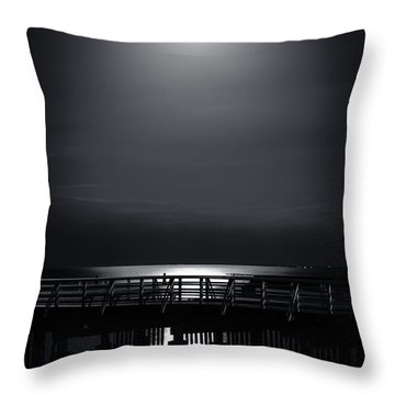 Full Moon Over Bramble Bay Throw Pillow by Peta Thames