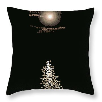 Full Moon Pointillism Throw Pillow