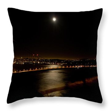 Full Moon Rising Throw Pillow by Bill Gallagher