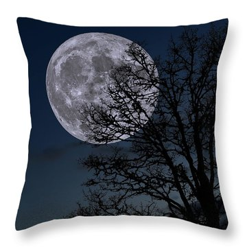 Throw Pillow featuring the photograph Full Moon Rising by Dennis Bucklin
