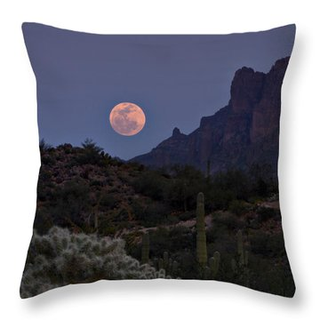 Full Moon Rising  Throw Pillow