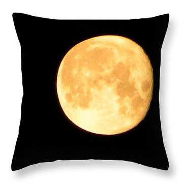 Full Moon Saturday Night Throw Pillow