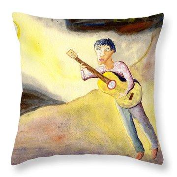 Full Moon Serenade  Throw Pillow