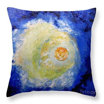Throw Pillow featuring the painting Full Moon by Susanne Baumann