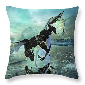 Full Moon Twist And Shout Throw Pillow