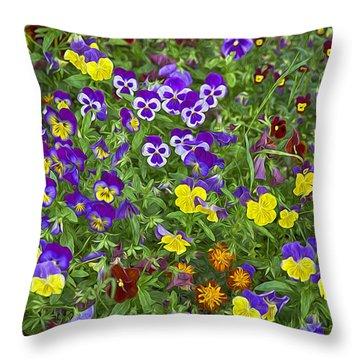 Full Of Flowers Throw Pillow