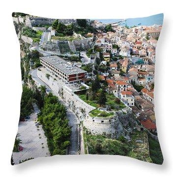 Full Ruins Of Acronafplia Throw Pillow