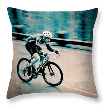 Throw Pillow featuring the photograph Full Speed Ahead by Ari Salmela