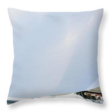 Full Spinnaker - Lake Geneva Wisconsin Throw Pillow