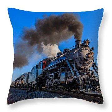Full Steam Ahead Throw Pillow