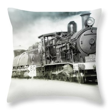Throw Pillow featuring the photograph Full Steam Ahead by Kevin Chippindall