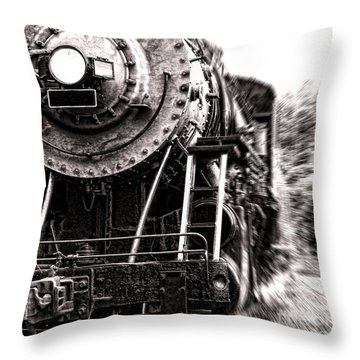 Full Steam Throw Pillow by Olivier Le Queinec