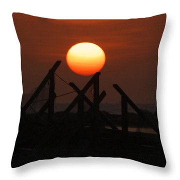 Throw Pillow featuring the photograph Full Sun by Leticia Latocki