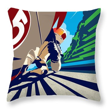 Full Throttle Throw Pillow
