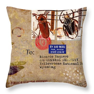 Fumigate Upon Arrival Throw Pillow by Carol Leigh