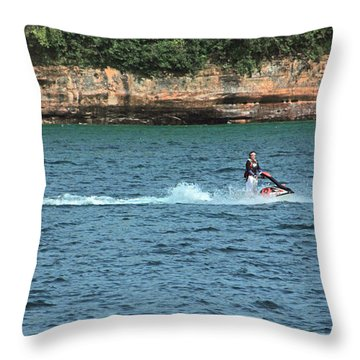 Fun At Pictured Rocks Throw Pillow