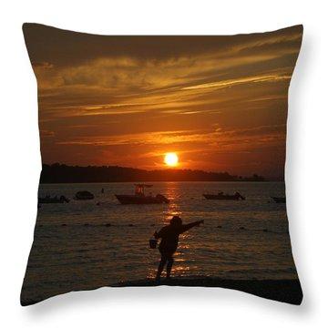 Fun At Sunset Throw Pillow