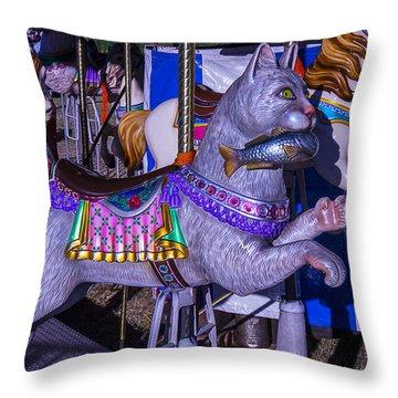 Fun Cat  Amusementt Ride Throw Pillow