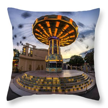 Fun Fair In The Night Throw Pillow