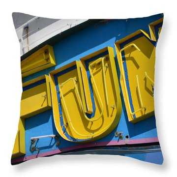 Fun In Seaside Heights Nj Throw Pillow