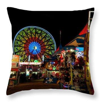 Fun Night At The Fair Throw Pillow