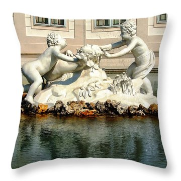 Throw Pillow featuring the photograph Fun On The Water by Mariola Bitner