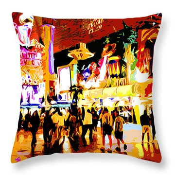 Fun Time In Old Las Vegas Throw Pillow